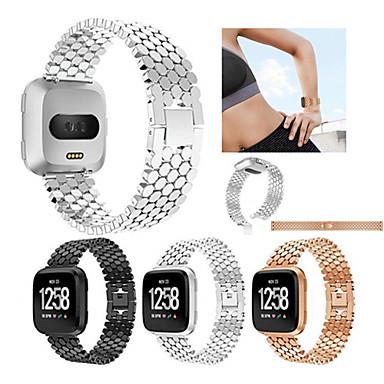 voordelige Smartwatch-accessoires-Horlogeband voor Fitbit Versa Fitbit Sportband Roestvrij staal Polsband