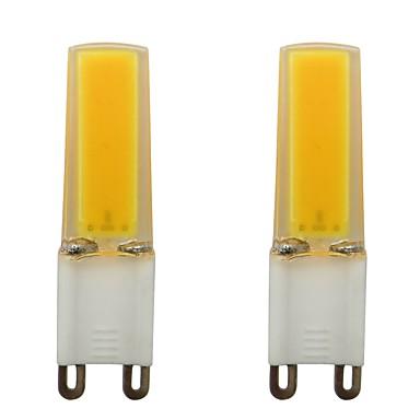 3w g9 البسيطة سيليكون الصمام بقعة ضوء مصلحة الارصاد الجوية 0930 cob للمنزل داخلي ac 110 فولت دافئ / الباردة الأبيض (2 قطع)