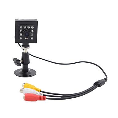 Hqcam الصوت 800tvl cmos 0.03lux 10 قطع 940nm ir led الأمن كاميرا ir للرؤية الليلية 1/3 بوصة مربع كاميرا / ir كاميرا