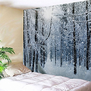 cheap Wall Art-Novelty / Holiday Wall Decor Polyester / 100% Polyester Classic Wall Art, Wall Tapestries Decoration