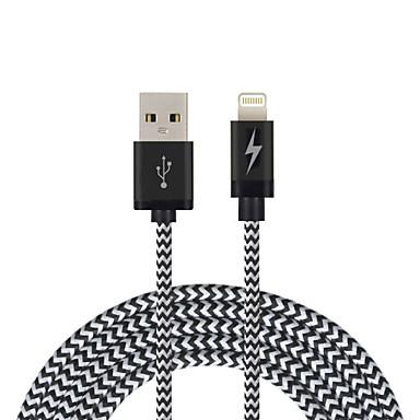 Eclairage Cordon / Câble de Charge / Câble de Chargeur Tressé Câble iPad / Apple / iPhone pour 200 cm Pour Nylon