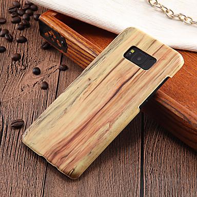 Недорогие Чехлы и кейсы для Galaxy S6 Edge-Кейс для Назначение SSamsung Galaxy S8 Plus / S8 / S7 edge Ультратонкий Кейс на заднюю панель Имитация дерева Твердый ПК