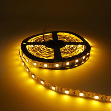 HKV 5m شرائط قابلة للانثناء لأضواء LED 300 المصابيح 5050 SMD أحمر / أصفر / أخضر قابل للقص / قابلة للربط / اللصق التلقي 12 V 1PC