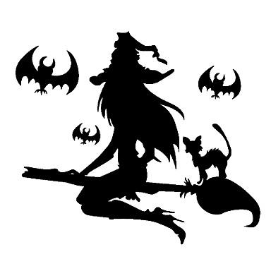عطلة زينة زينة هالوين هالوين الترفيه / كائنات ديكور ديكور / كوول أسود 1PC