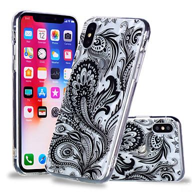 غطاء من أجل Apple iPhone X / iPhone 8 Plus / iPhone 8 نموذج غطاء خلفي كارتون / الطباعة الدانتيل / زهور ناعم TPU