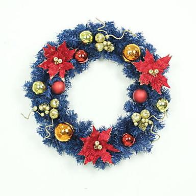 أكاليل عطلة بلاستيك دائري حداثة زينة عيد الميلاد