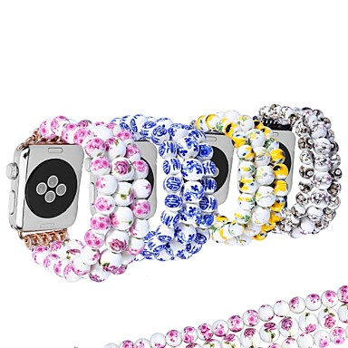 حزام إلى Apple Watch Series 4/3/2/1 Apple تصميم المجوهرات خزفي شريط المعصم