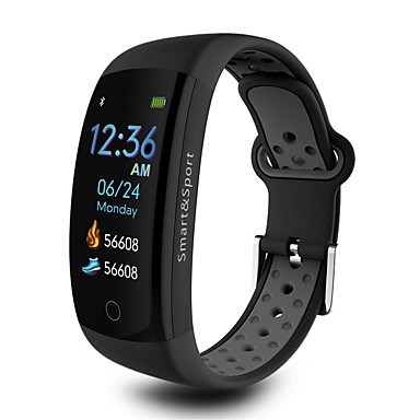 q6s smart watch bt 4.0 دعم تعقب اللياقة البدنية إخطار ومراقبة معدل ضربات القلب الرياضية smartwatch متوافق فون / سامسونج / الهواتف الروبوت