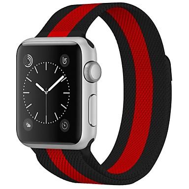ستانلس ستيل حزام حزام إلى Apple Watch Series 4/3/2/1 أسود 23CM / 9 بوصة 2.1cm / 0.83 Inches