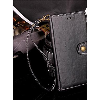 غطاء من أجل Apple iPhone XS / iPhone XR / iPhone XS Max محفظة / حامل البطاقات / مع حامل غطاء كامل للجسم لون سادة قاسي جلد PU
