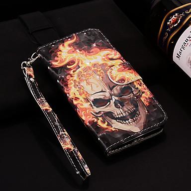 غطاء من أجل Samsung Galaxy Note 9 محفظة / حامل البطاقات / مع حامل غطاء كامل للجسم جماجم قاسي جلد PU