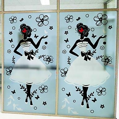 فيلم نافذة وملصقات زخرفة فني / ريترو طباعة PVC تصميم جديد / كوول