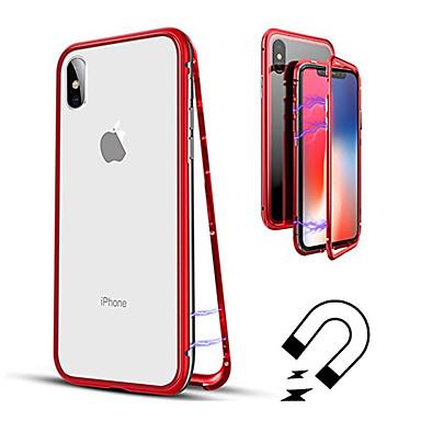 Недорогие Кейсы для iPhone-Кейс для Назначение Apple iPhone XS / iPhone XR / iPhone XS Max Полупрозрачный Чехол Однотонный Твердый Закаленное стекло
