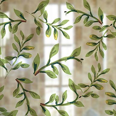 فيلم نافذة وملصقات زخرفة معاصر / الحد الأدنى هندسي / وردة PVC ملصق النافذة