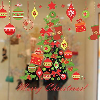 فيلم نافذة وملصقات زخرفة معاصر / عيد الميلاد عطلة PVC كوول