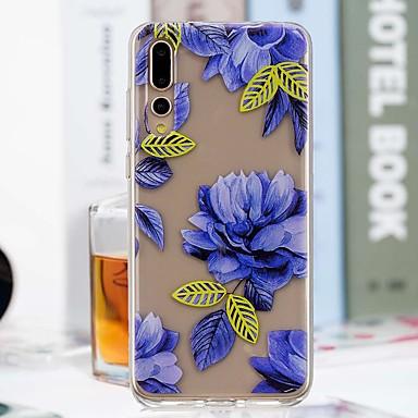 غطاء من أجل Huawei P20 Pro / P20 lite شفاف / نموذج غطاء خلفي زهور ناعم TPU إلى Huawei P20 / Huawei P20 Pro / Huawei P20 lite