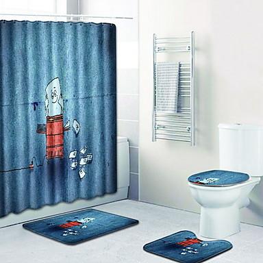 كرتون مماسح الحمام 100g / m2 البوليستر الإمتداد حك خلّاق غير منتظم تصميم جديد