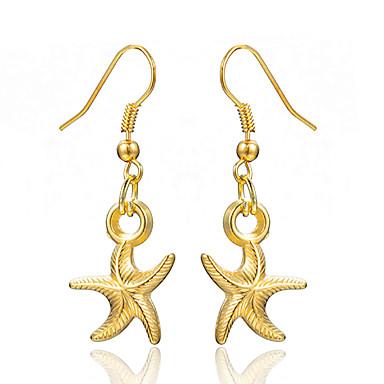 نسائي أقراط قطرة كلاسيكي ستايل نجم البحر سيدات الأقراط مجوهرات أصفر من أجل زفاف مناسب للحفلات 1 زوج
