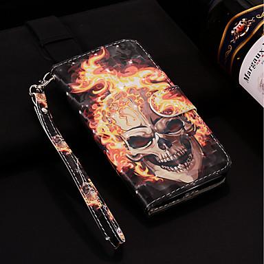 Carcasă Pro Samsung Galaxy S9 Plus / S9 Peněženka / Pouzdro na karty / se stojánkem Celý kryt Lebky Pevné PU kůže pro S9 / S9 Plus / S8 Plus
