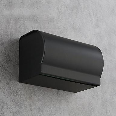 حاملة ورق التواليت تصميم جديد / متعددة الوظائف الحديث الالومنيوم 1PC حمالة ورق تواليت مثبت على الحائط