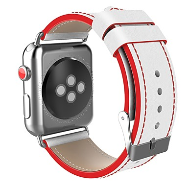 ستانلس ستيل حزام حزام إلى Apple Watch Series 4/3/2/1 أسود / أحمر 23CM / 9 بوصة 2.1cm / 0.83 Inches