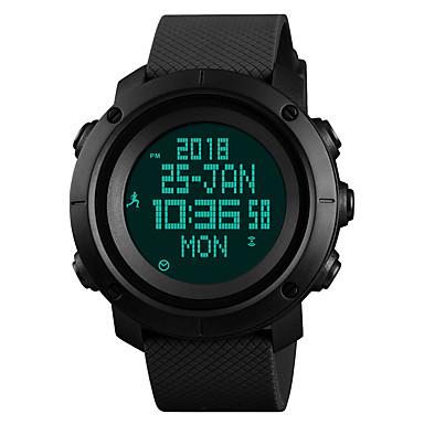 levne Pánské-SKMEI Pánské Sportovní hodinky Vojenské hodinky Digitální hodinky japonština Digitální Z umělé kůže Černá / Modrá / Zelená 50 m Voděodolné Alarm Kalendář Digitální Luxus Módní - Černá Zelená Modrá