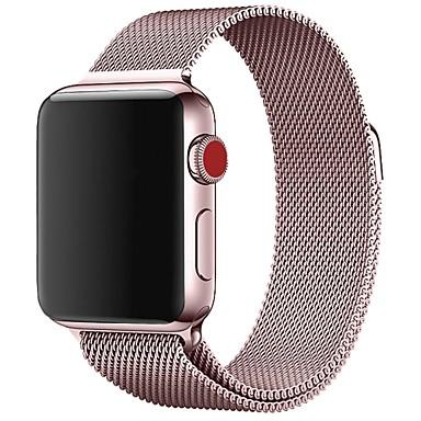 Χαμηλού Κόστους Ανδρικά ρολόγια-Ανοξείδωτο Ατσάλι Παρακολουθήστε Band Λουρί για Apple Watch Series 4/3/2/1 Μαύρο / Μπλε / Ασημί 23 εκατοστά / 9 ίντσες 2.1cm / 0.83 Ίντσες