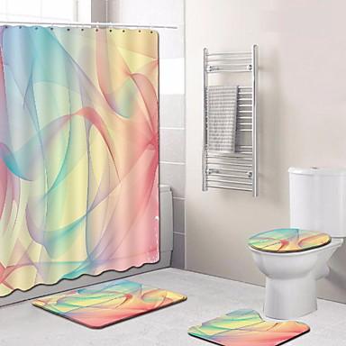 3 قطعات الحديث مماسح الحمام 100g / m2 البوليستر الإمتداد حك بدعة غير منتظم تصميم جديد / كوول