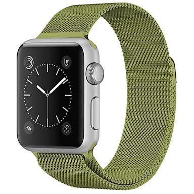 זול שעוני גברים-מתכת אל חלד צפו בנד רצועה ל Apple Watch Series 4/3/2/1 אדום / חום / ירוק 23cm / 9 אינץ ' 2.1cm / 0.83 אינצ'ים