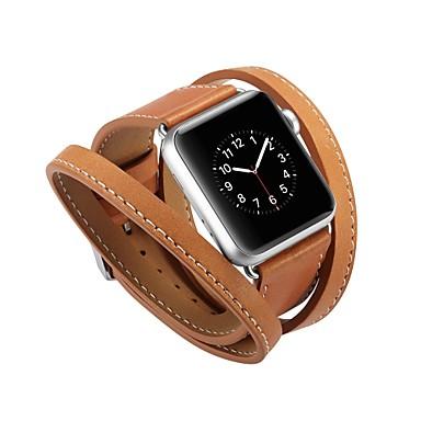 Χαμηλού Κόστους Αξεσουάρ ρολογιών-Τρίχα Μοσχαριού Παρακολουθήστε Band Λουρί για Apple Watch Series 4/3/2/1 Μαύρο / Μπλε / Κόκκινο 23 εκατοστά / 9 ίντσες 2.1cm / 0.83 Ίντσες