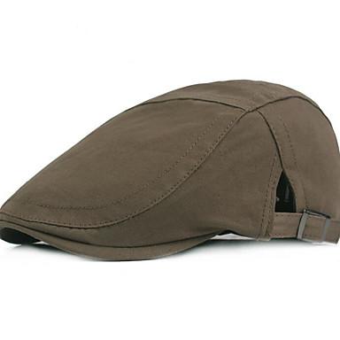 رمادي أخضر داكن كاكي قبعة قلنسوة لون سادة رجالي بوليستر,أساسي