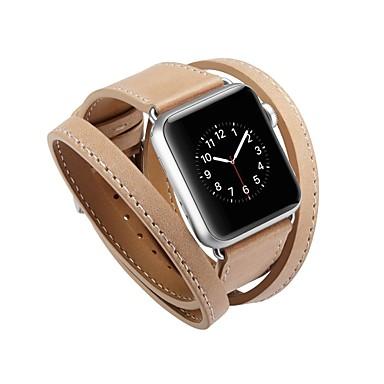 זול שעוני גברים-Calf Hair צפו בנד רצועה ל Apple Watch Series 4/3/2/1 שחור / כחול / אדום 23cm / 9 אינץ ' 2.1cm / 0.83 אינצ'ים