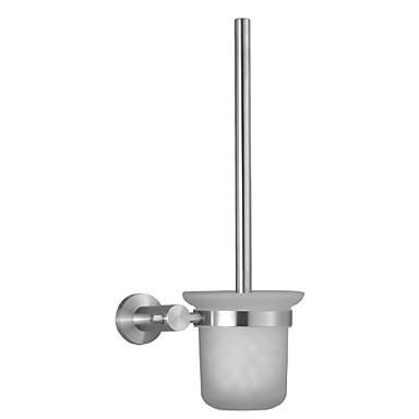 حاملة فرشاة التواليت تصميم جديد / كوول الحديث الفولاذ المقاوم للصدأ / الحديد 1PC حامل فرشاة الحمام مثبت على الحائط