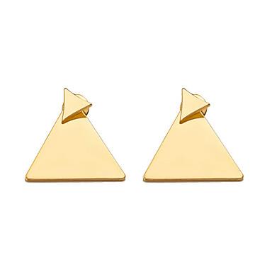 نسائي أقراط الزر ستايل خلاق سيدات بسيط هندسي شائع الأقراط مجوهرات ذهبي / فضي من أجل مناسب للبس اليومي مناسب للخارج 1 زوج