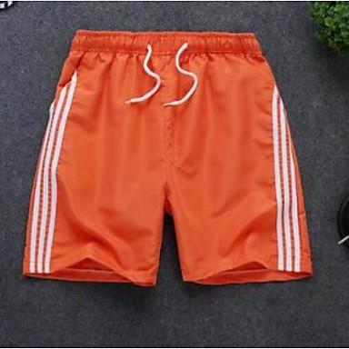 economico Abbigliamento uomo-Per uomo Essenziale Taglie forti Per uscire Pantaloncini Pantaloni - Monocolore Bianco Nero Arancione XL XXL XXXL
