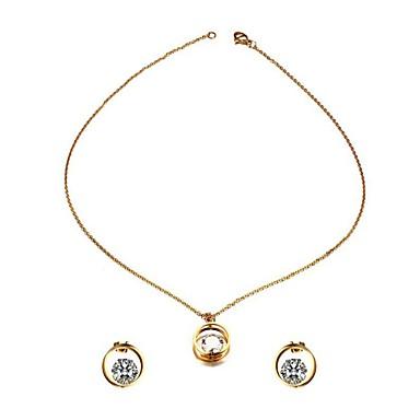 7d3f3fc3293a abordables Juego de Joyas-Mujer Circonita Elegante Conjunto de joyas Acero  inoxidable