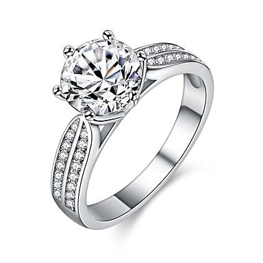 ce1e7d70f05e Pareja Diamante Cristal Zirconia Cúbica Clásico Elegante HALO Alianzas  Anillo de compromiso Legierung Garra de gato