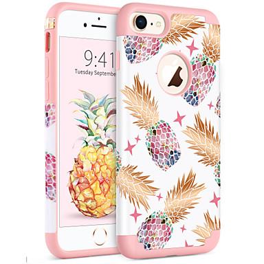 Недорогие Кейсы для iPhone-BENTOBEN Кейс для Назначение Apple iPhone 8 / iPhone 7 Защита от удара / IMD / С узором Кейс на заднюю панель Растения / дерево / Фрукты Мягкий ПК / силикагель для iPhone 8 / iPhone 7