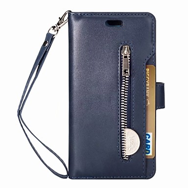 Case For Huawei P20 lite Wallet / Card Holder / Flip Full Body Cases Solid Colored Hard PU Leather for Huawei P20 lite