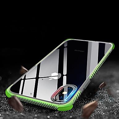 Недорогие Кейсы для iPhone-Кейс для Назначение Apple iPhone XS / iPhone XR / iPhone XS Max Защита от удара / Полупрозрачный Кейс на заднюю панель Однотонный Мягкий ТПУ