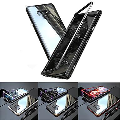 غطاء من أجل Samsung Galaxy Note 9 / Note 8 شبه شفّاف غطاء كامل للجسم لون سادة قاسي زجاج مقوى