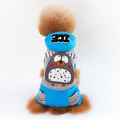 כלבים / חתולים מעילים בגדים לכלבים קולור בלוק / מעוטר / דמות צהוב / כחול כותנה תחפושות עבור חיות מחמד יוניסקס יום יומי\קז'ואל / סגנון מינימליסטי