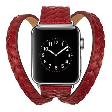 شعر العجل حزام حزام إلى Apple Watch Series 4/3/2/1 أسود / أزرق / أحمر 23CM / 9 بوصة 2.1cm / 0.83 Inches
