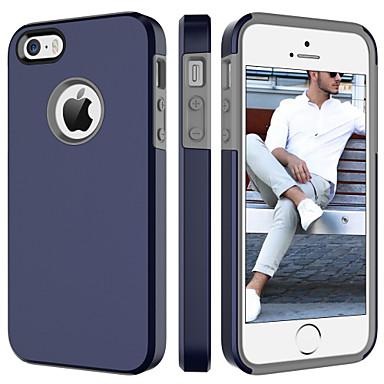 Недорогие Кейсы для iPhone-Кейс для Назначение Apple iPhone SE / 5s / iPhone 5 Защита от удара Кейс на заднюю панель Однотонный Твердый ПК