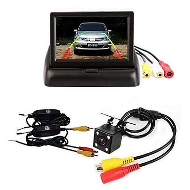 "voordelige Auto-achteruitkijkcamera-BYNCG 4.3ZD 4.3 inch(es) TFT-LCD 480TVL 480p 1/4"" kleuren CMOS Bekabeld 120 graden 1 pcs 120 ° 4.3 inch(es) Achteruitrijcamera / Auto-achteruitrijmonitor / Car Rear View Kit Waterbestendig"