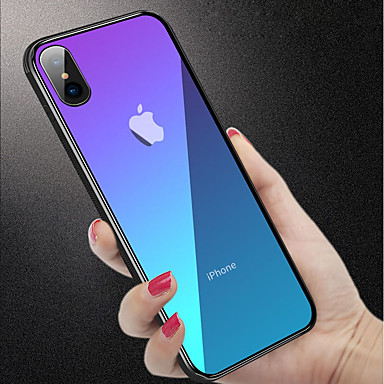 Case For Apple iPhone XR / iPhone XS Max Shockproof / Translucent Back Cover Solid Colored Hard Tempered Glass for iPhone XS / iPhone XR / iPhone XS Max