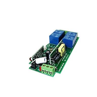 Недорогие Реле-тип обучения 220 В 4-позиционный переключатель дистанционного управления металлический квадрат квадратный 4 кнопки беспроводной пульт дистанционного управления