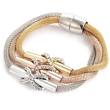 Dame Retro Wrap Armbånd Rhinsten Damer Elegant Armbånd Smykker Rose Guld Til Ceremoni Aftenselskab