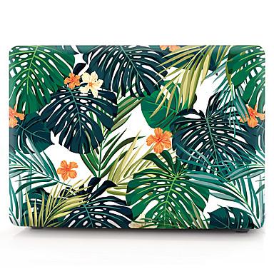 povoljno Újdonságok-PVC tvrdo pokrovno kućište za MacBook Pro 15 a1286 smeđi list cvijeća