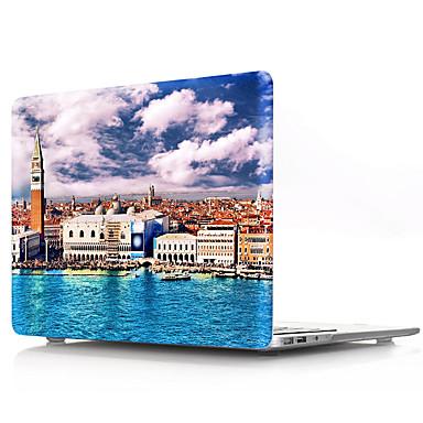 Недорогие Кейсы для iPhone-Твердый переплет ПВХ оболочки для MacBook New Air 13-дюймовый A1932 защитный чехол природный пейзаж прозрачный нижний корпус
